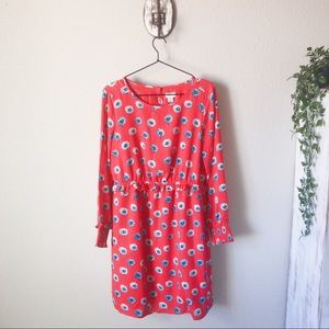 J. Crew Factory NWT pink floral long sleeve dress